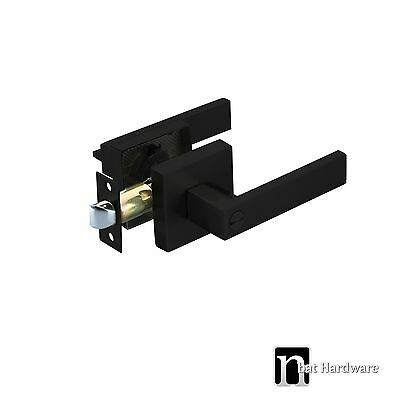 Door Lever Handles Privacy Set  (3111MB) - Matt Black Finish Handle