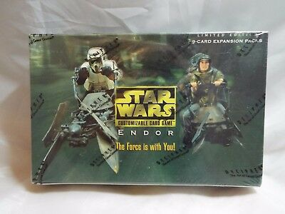 Star Wars Ccg Endor Complete Sealed Booster Box Of 30 Packs