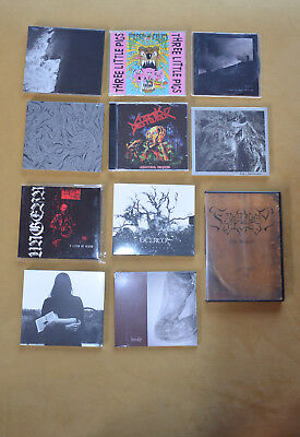Black Metal Sammlung CDs, Shirts, Tapes Morbosidad Ultha Mayhem Marduk Death