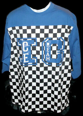ICE CREAM Graphic Tee 100% Cotton Blue XL 3/4 Sleeve New With Tags