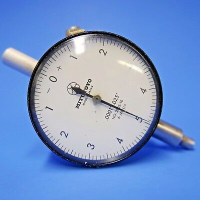 """MITUTOYO DIAL INDICATOR No. 2803-10, 6 JEWELS, .0001 - .025 large 2"""" face"""