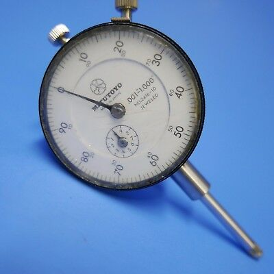 """MITUTOYO DIAL INDICATOR No. 2416-10, JEWELED, .0001 - 1.00  large 2"""" face"""