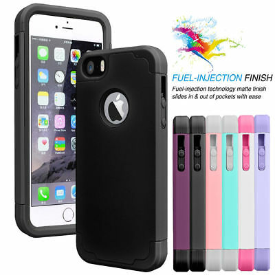 Shockproof Armor Defender Rugged Rubber Hard Case Cover For Apple iPhone 5/5S/SE