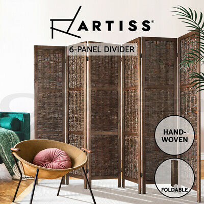 Artiss 6 Panel Room Divider Screen Privacy Wood Foldable Willow Stand Timber