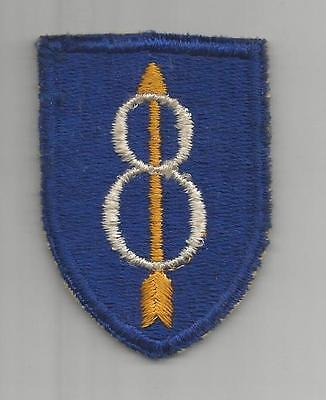 WW 2 US Army 8th Infantry Division Flat Top Patch Inv# G927