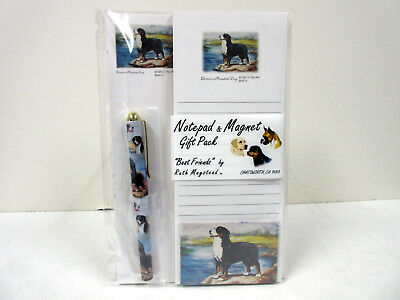 New Bernese Mountain Dog List Pad Note Pad Magnet Pen Stationery Gift Pack BMD-2