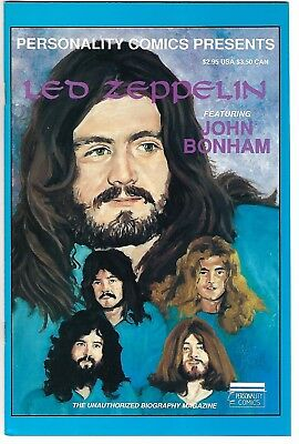 Personality Comics Presents Led Zeppelin #3: John Bonham (1992)  FN/VF  1st Prt