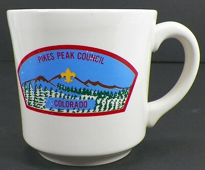 Vintage Boy Scout Pikes Peak Council Colorado Coffee Mug Cup