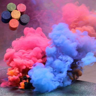 5 Colors Smoke Cake Smoke Effect Show Round Bomb Photography Aid Toy Divine Gift