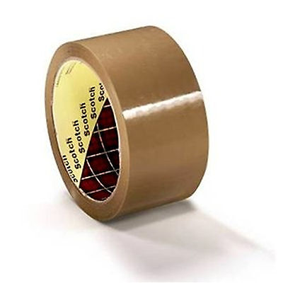 24 x Extra Wide 3M Buff Parcel Packing Tape 75mm x 66M