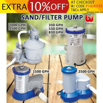 Bestway Flowclear Above Ground Swimming Pool Water Sand Filter Water Pump