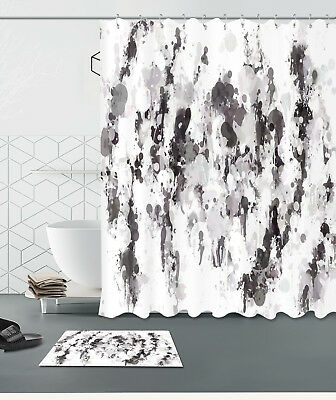 "72//79/"" Graffiti Scenery Bathroom Polyester Fabric Shower Curtain 12Hooks 893"