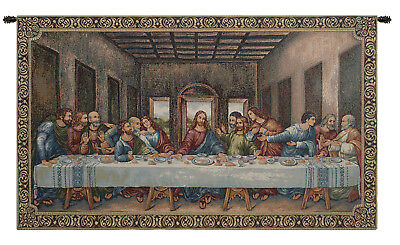 """The Last Supper III Collection Woven Decor Wall Hanging Tapestry 16 x 26"""""""