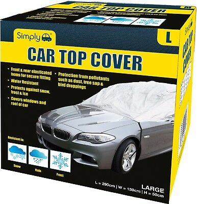 Simply Water Rain UV Sun Frost Resistant Fully Breathable Car Top Cover - Large
