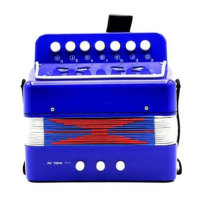 Kids Accordion Music Toy Early Learning Eduction Instrument Xmas Gift Blue