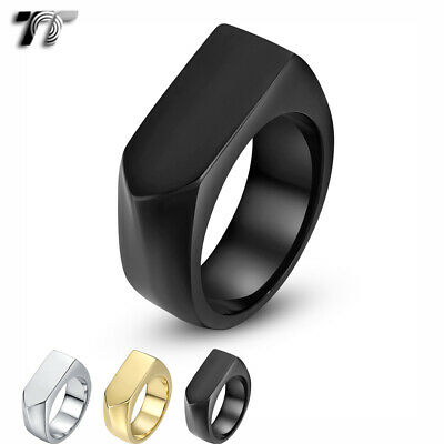 High Quality TT 316L Stainless Steel Band Ring 3 Colours (RZ177) NEW