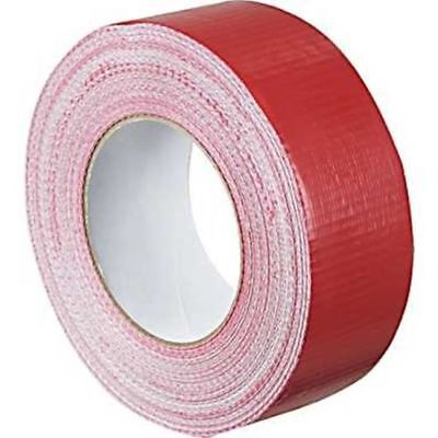 2 x Duck RED strong Duct Gaffa Gaffer Waterproof Cloth Tape 48mm 2'' 50m