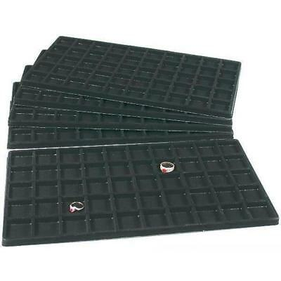 5 Black Flocked 50 Compartment Display Tray Inserts