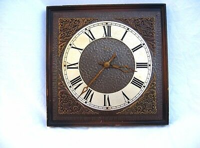 Rare Vintage Wall Clock Kienzle Automatic Of Germany Requires Work Wood & Brass