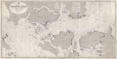 1870 Admiralty Chart of Singapore Strait
