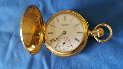 c816f4ba50214 Antique Tiffany & Co 18k Rose Gold 34mm Hunter Ladies Womens Pocket Watch  c1895