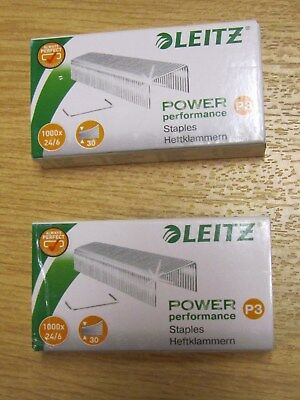 2 x Leitz Heftklammern 55700000 Klammern P3 24/6 Power Performance 4002432325085