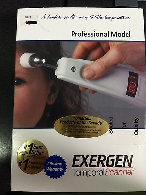 EXERGEN Temporal Scanner Professional Thermometer TAT-5000 + 1000 caps 134203