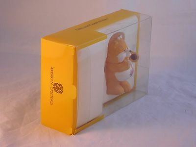 "Care Bears Birthday Bear 3"" Ceramic Gift Figurine w/ Original Packaging Vintage"