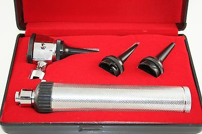 Otoscope w/3 Specula Diagnostic ENT Surgical Instruments Set with Case