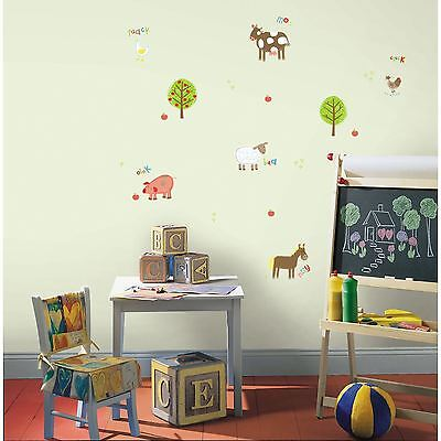 Farm Animals 25 Wall Stickers New Room Decor Cow Horse Pig Sheep