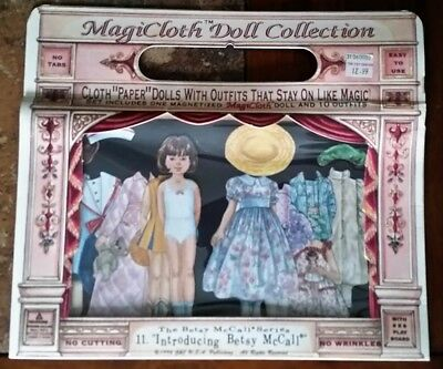 VINTAGE MAGICLOTH DOLL COLLECTION #11 BETSY MCCALL SERIES By JUDY M JOHNSON