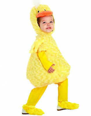 Yellow Duck Animal Bird Belly Babies Toddler Costume