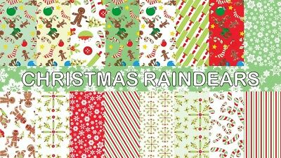 CHRISTMAS RAINDEARS SCRAPBOOK PAPER - 16 x A4 pages