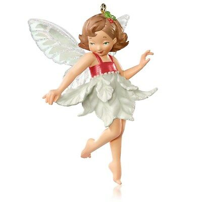 Hallmark 2015 RED Poinsettia FAIRY SURPRISE Mystery Ornament NIB