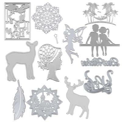 11 Types DIY Metal Cutting Dies Stencil Embossing Scrapbook Paper Cards Craft