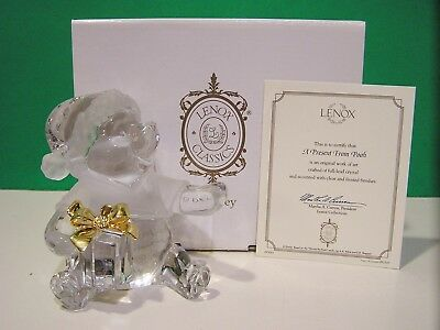 LENOX Disney A PRESENT FROM POOH CRYSTAL sculpture NEW in BOX with COA