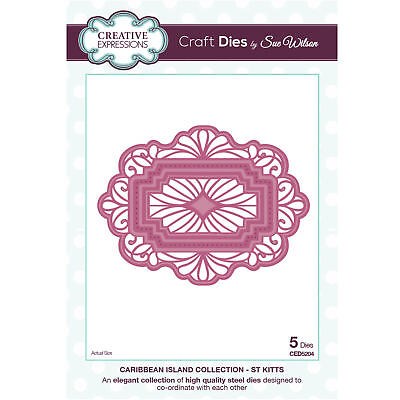 Craft Dies ced5204 Sue Wilson Karibik Insel Kollektion - St Kitts