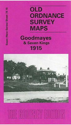 Old Ordnance Survey Map Goodmayes Seven Kings Ilford Cemetery 1915