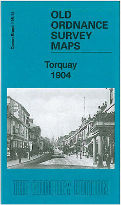 Old Ordnance Survey Map Torquay 1904 Princess Pier Tor Abbey Warberry Hill