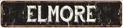 ELMORE Street Sign Rustic Chic Sign Home man cave Decor Gift Black 41803560