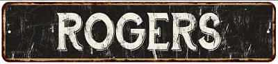 ROGERS Street Sign Rustic Chic Sign Home man cave Decor Gift Black 41803742