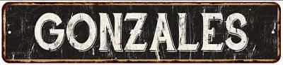 GONZALES Street Sign Rustic Chic Sign Home man cave Decor Gift Black 41804121