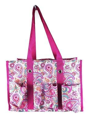NEW in pink paisley 31 Thirty One Utility tote gift shoulder bag retired