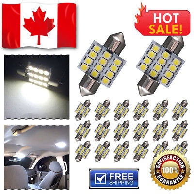 "10PCS 1.72"" 42mm 8-SMD Festoon 7000K White LED - Map/Dome Lights Bulbs 211-2 578"