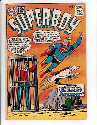"SUPERBOY #96 (VG) ""The Enemy Superboy!"" 1962 DC Lex Luthor Appearance!"