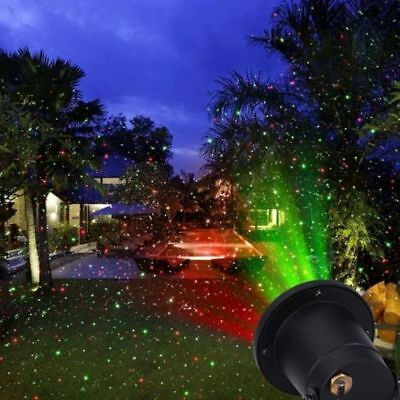Laser Star Christmas Home Garden Light Sky Shower Outdoor Holiday Party Lamp