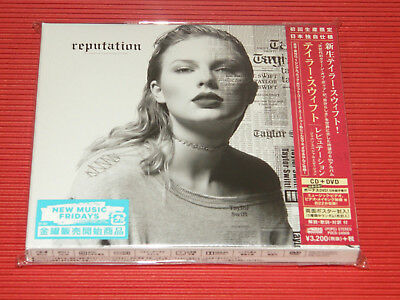 2017 TAYLOR SWIFT REPUTATION Japan Only CD+ DVD EDITION IN SLIP CASE W/ POSTER