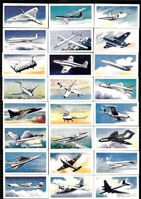 Set 25 Aircraft Of The World Excellent Vintage 59 Yrs  Like Cigarette Cards