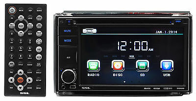 "SSL Soundstorm DD660 In-Dash Double-DIN 6.2"" DVD Receiver AUX/USB/SD+Remote"