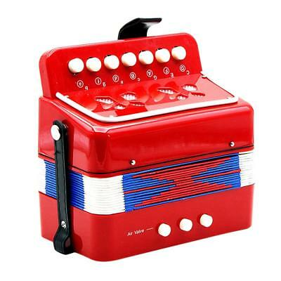 Kids Accordion Music Toy Early Learning Eduction Instrument Xmas Gift Red